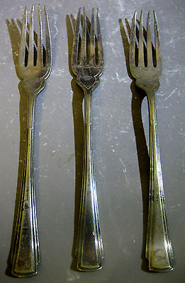 3 x vintage silver plated EP forks