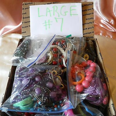 Large Flat Rate Box Full Estate Hoarder Junk Jewelry*75% Wear*rest?? See This!