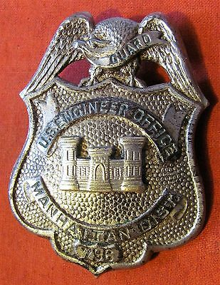 Vintage Rare Wwii Us Manhattan Project A-Bomb Guards Hat Badge