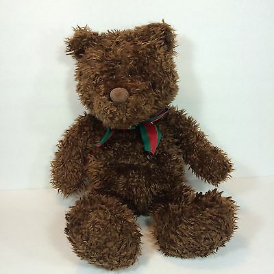 GUND Xmas Fashion Bug Brown Teddy Bear Beauregard Large Stuffed Animal 19""