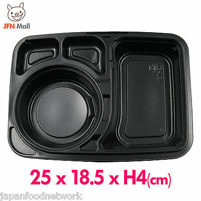 50pcs Japanese Disposable Plastic Lunch Box With Lid Takeaway Container