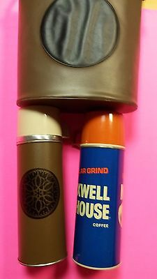 1960's Vtg Maxwell House Coffee Thermos & Aladdin Thermos with Vinyl Bag
