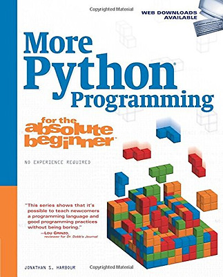 More Python Programming for the Absolute Beginner, Good Condition Book, Harbour,