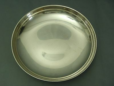 Antique/vintage large silver-plated Footed tray/bowl