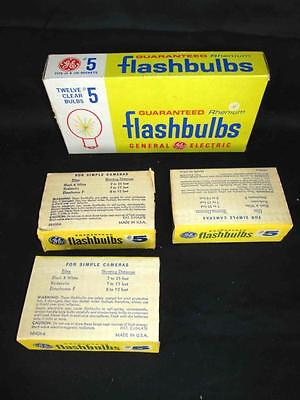 Box of 10 GE General Electric #5 Rhenium Flashbulbs for a Vintage Camera