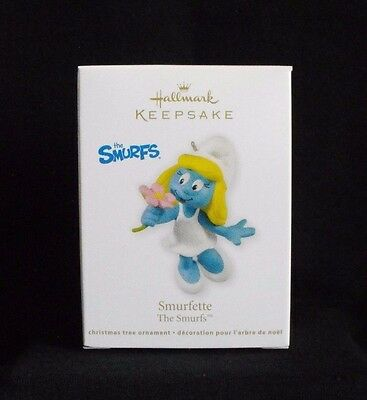 Smurf Smurfette Hallmark Ornament ~ 2011 ~ Mint in Box ~ Peyo
