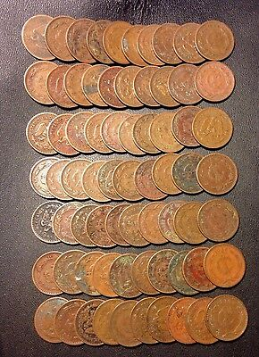 Old Mexico Coin Lot - Old Centavo - 70 Coins - Lot #J19