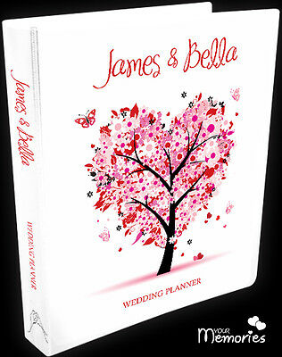 Wedding Planner/pretty in pink/Diary/Book/Keepsake momento/Personalised