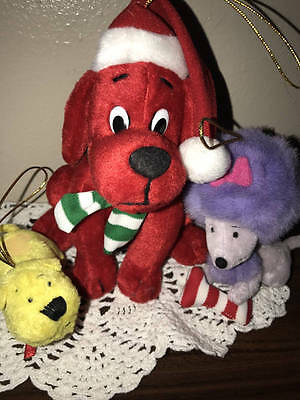 Scholastic~2003 Clifford & Friends Plush Ornament***