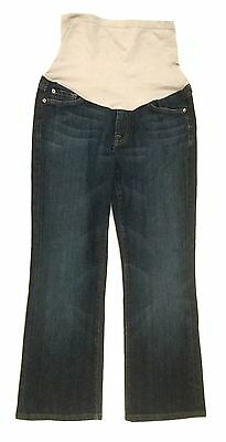 7 For All Mankind Maternity Jeans Blue Denim Capri Cropped Women's Size 30 x 26