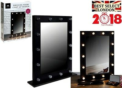 Modern Hollywood 14 LED Bulb Vanity Mirror Dressing Table Mirror Frame New UK