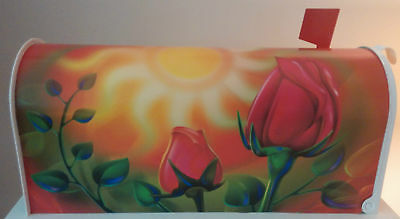 MAiLBOX ROSES~Vinyl Laminated~NO PAINT~(Paint Fades and Chips)
