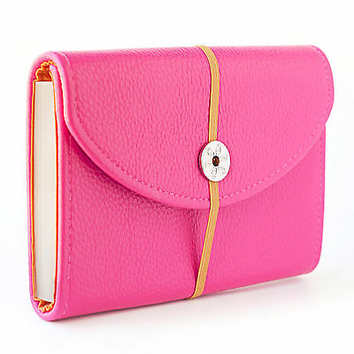 Textured Pink Faux Leather Coupon Organizer Holder ( 30603 Pink )