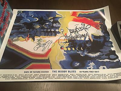 The Moody Blues Days Of Future Passed AUTOGRAPHED poster