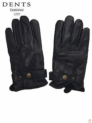 Dents Men's Fleece Lined Leather Gloves Warm Winter BR237 New