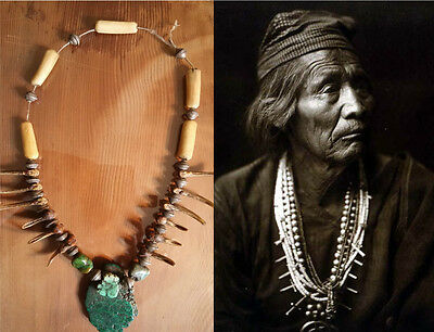 Navajo Medicine Man's Claw Necklace……circa (1860's -1870's / early phase)