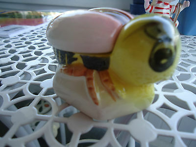 Vintage JAPAN Anthropomorphic Bumble Bee Ceramic Salt Cellar /Honey/Condiment