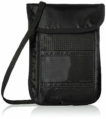 AmazonBasics RFID Travel Neck Stash Wallet, Black