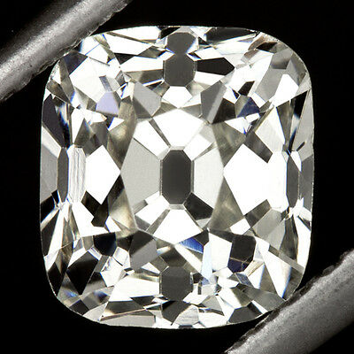 GIA CERTIFIED K VS1 1 CARAT ANTIQUE OLD MINE CUSHION BRILLIANT CUT DIAMOND 1ct