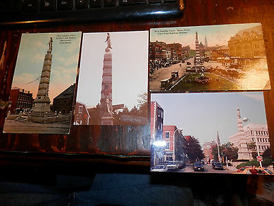 NEW LONDON CT - CIVIL WAR - SOLDIERS MONUMENT - OLD Postcards plus MODERN PHOTOS