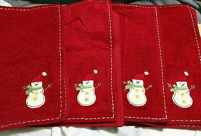 Holiday Snowman Placemats Set of 4