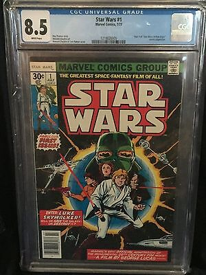 Star Wars (1977) # 1 Cgc 8.5 Vf+ White Pages - 1218826005 Upc New Stand Edition