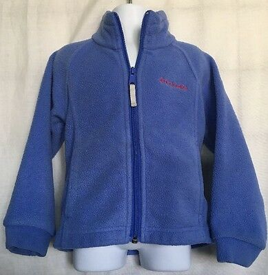 Columbia Full Zip Fleece Jacket Baby Toddler Size 4T Blue And Red