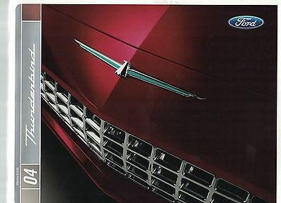 2004 Ford Thunderbird Deluxe 20 Page Dealer Sales Brochure