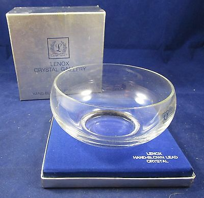 Lenox Crystal Gallery Hamilton Bowl - Hand Blown - New Old Stock in Box