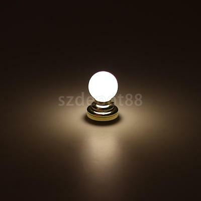 Dollhouse Miniature Globe White Ceiling LED Light Lighting Lamp with Battery