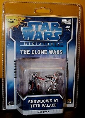 "Star Wars Miniatures ""The Clone Wars"" Map Pack Showdown at Teth Palace- NIP NRFP"