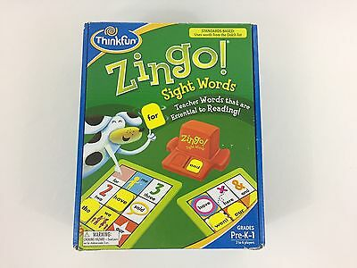 Zingo! Sight Words Kindergarten Reading Learning Game Priority Shipping