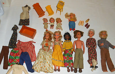 VINTAGE LOT OF 70's MATTEL THE SUNSHINE FAMILY DOLLS BABY Lot