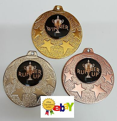 1 x 50mm  DANCE WINNER/RUNNER UP MEDAL,TROPHY,AWARD ,Free engraving,Free ribbons