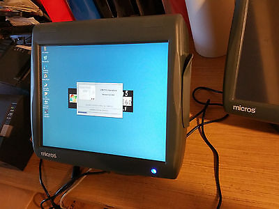 Micros WS5 Point of sale Terminal w Stand 3700 workstation 5, bar grill POS  #2