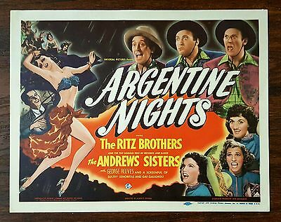 ARGENTINE NIGHTS-The Ritz Brothers/The Andrew Sisters-Title Card-1940
