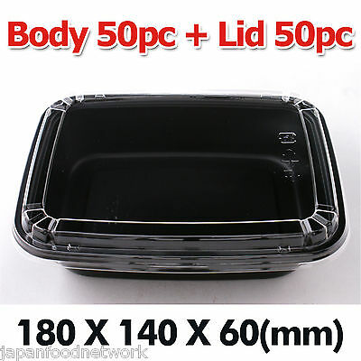 Disposable Donburi Lunch Box container takeaway Body 50pc + Lid 50pc(DB-10)
