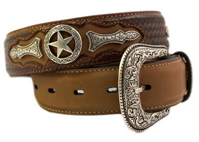 New Western Star Leather Belts-301  Mens Belt Brigalow
