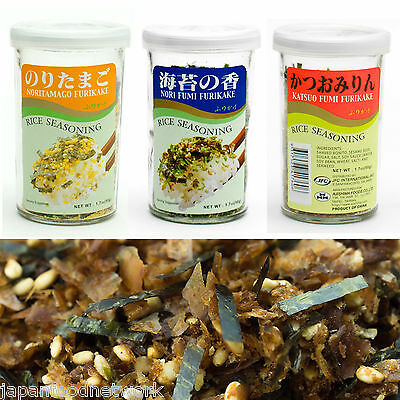Japanese Rice Seasoning Furikake (Nori+Katsuo+Noritamago) 50g x 3 bottle
