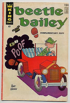 Beetle Bailey 63 FN- 5.5 Complimentary Copy not listed in Overstreet, 1967