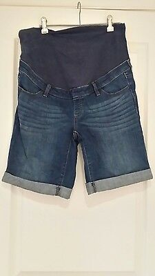 Denim maternity shorts size 12
