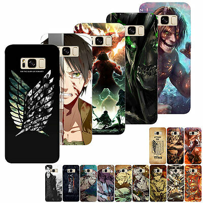 Anime Manga Attack On Titan Painted Phone Case Cover For Samsung S5 6/7 Edge S8P