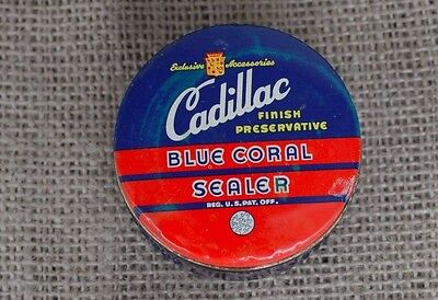 Cadillac Blue Coral Sealer Jar with Cobalt Blue Glass Vintage