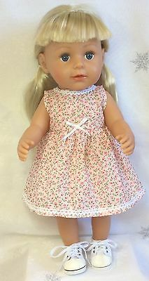 """Handmade Dolls Clothes To Fit 17""""   Baby Born -  Flower  Dress"""
