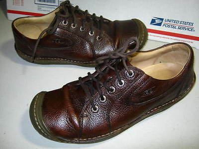 Mens Keen Shoes Sneakers Brown Leather Lace-Up Shoes Size 9