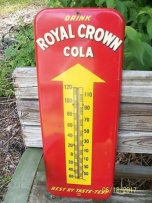 Royal Crown Thermometer Sign NICE