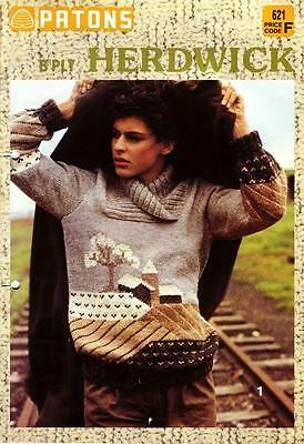 Patons knitting pattern book 621 - MISSES 8 ply CARDIGANS, JUMPERS, JACKET