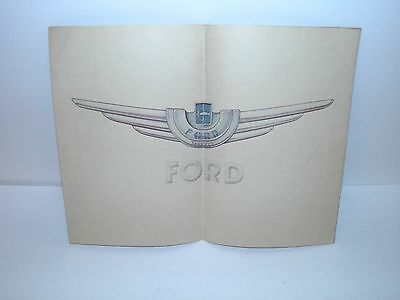 Vintage Original Ford France 1940's Car Brochure