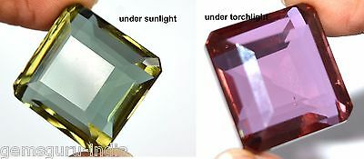 85 Ct Natural Octagon Cut Certified Color Changing Alexandrite Gemstone-DEALS !!