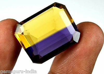 32.70 Ct Certified Octagon Cut Yellowish Purple Ametrine Gemstone-FATHER'S DAY